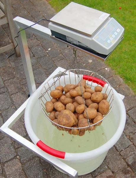 Kartoffelwaage mit Wiegebock